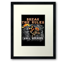 Wall Breaker Break The Rules COC Jack O Lantern Framed Print