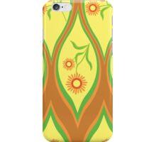 Orange Retro Flower iPhone Case/Skin