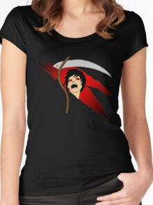 Anime Grim Reaper Women's Fitted Scoop T-Shirt