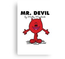 Mr Devil Canvas Print
