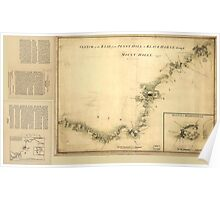 American Revolutionary War Era Maps 1750-1786 873 Sketch of Haddonfield Sketch of the road from Penny Hill to Black Horse through Mount Holly 1778 Poster