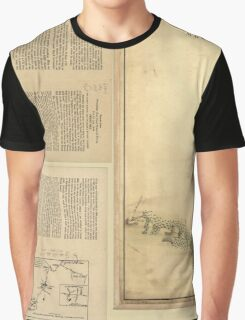 American Revolutionary War Era Maps 1750-1786 873 Sketch of Haddonfield Sketch of the road from Penny Hill to Black Horse through Mount Holly 1778 Graphic T-Shirt