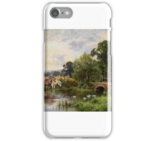 Henry Parker - Watering the Horses iPhone Case/Skin