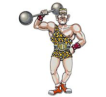 Circus Strongest Dude Photographic Print