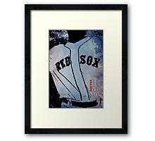 Boston Red Sox, baseball team, wall art print, typography Framed Print