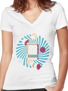 Amanita Box Women's Fitted V-Neck T-Shirt