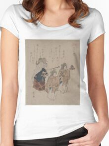 Kosetsu - The Jewelled Well - 1820 - Woodcut Women's Fitted Scoop T-Shirt