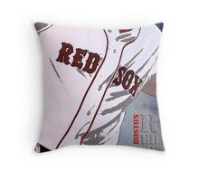 Boston Red Sox Baseball, Typography Throw Pillow