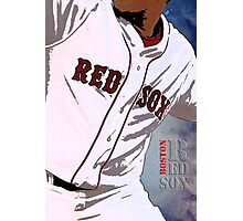 Boston Red Sox Baseball, Typography Photographic Print