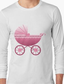 Pink Baby Carriage Long Sleeve T-Shirt