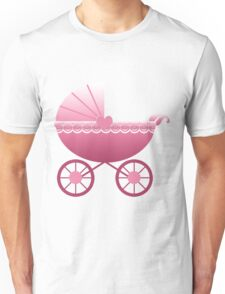 Pink Baby Carriage Unisex T-Shirt