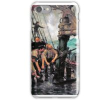 Henry Scott Tuke - All Hands to the Pumps  iPhone Case/Skin