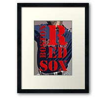 Red Sox baseball team, Boston, Original Typography Art Framed Print