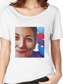 Smile, 2011, 100-100cm, oil on canvas Women's Relaxed Fit T-Shirt