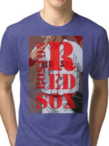 Boston Red Sox original typography, baseball team Tri-blend T-Shirt