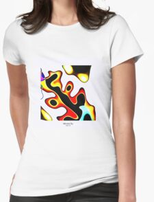 MIRRORED SKY - With Border Womens Fitted T-Shirt