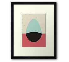 HERE IV (EGG) Framed Print