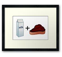 Milk Steak Framed Print