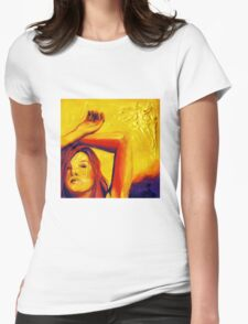 Sunlight, 15-15cm, 2011, watercolors and acryl Womens Fitted T-Shirt
