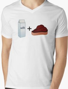 Milk Steak Mens V-Neck T-Shirt