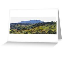 How green was my Costa Rican valley Greeting Card