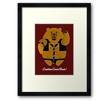 LEATHER LOVIN BEAR! Framed Print