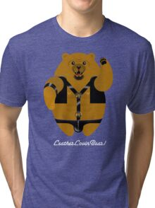LEATHER LOVIN BEAR! Tri-blend T-Shirt