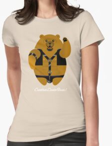 LEATHER LOVIN BEAR! Womens Fitted T-Shirt