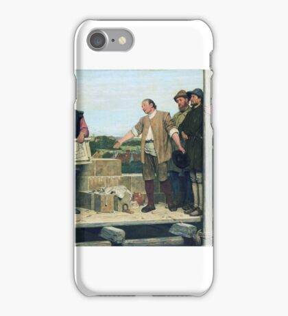 Henry Stacey Marks - Capital and Labour  iPhone Case/Skin