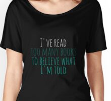 Too Many Books - Aqua Women's Relaxed Fit T-Shirt