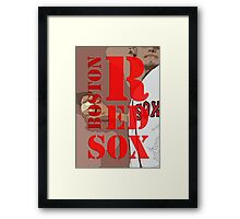 Boston Red Sox Typography wall poster Framed Print