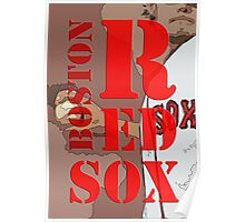 Boston Red Sox Typography wall poster Poster