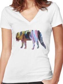 Civet cat Women's Fitted V-Neck T-Shirt