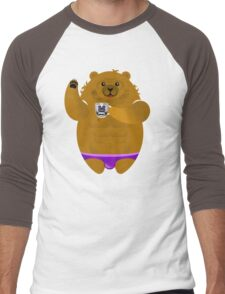 MORNING COFFEE BEAR! Men's Baseball ¾ T-Shirt