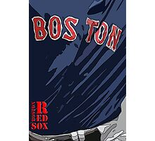 Boston Red Sox Original Typography Blue shirt Photographic Print