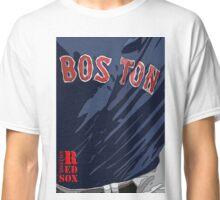 Boston Red Sox Original Typography Blue shirt Classic T-Shirt