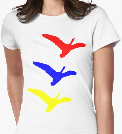 Primary geese Womens Fitted T-Shirt