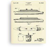 Steamship-1937 Canvas Print