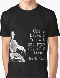 Get A Bicycle - Twain Graphic T-Shirt