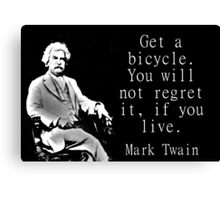Get A Bicycle - Twain Canvas Print