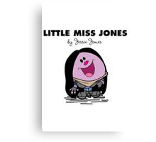 Little Miss Jones Canvas Print