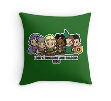 Lil Dungeons and Dragons Throw Pillow