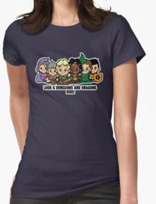 Lil Dungeons and Dragons Womens Fitted T-Shirt