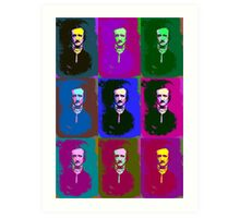 Edgar Allan Poe Pop Art 2 Art Print