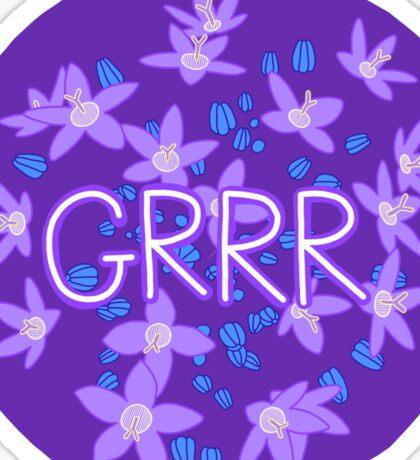 Grrr - Purple Flowers Explosion Sticker