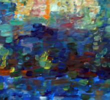 Color study after Signac, 90-70cm, oil on paper Sticker