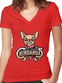 El Paso Chihuahuas Women's Fitted V-Neck T-Shirt