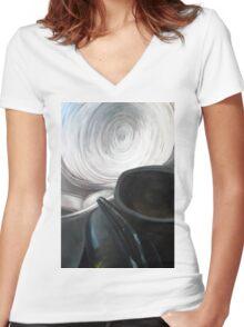 Detail, 100-70cm, oil on paper Women's Fitted V-Neck T-Shirt