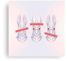 White Rabbit Canvas Print