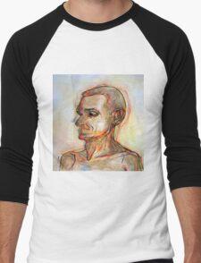 Human figure study nr1, 90-95cm, oil on paper Men's Baseball ¾ T-Shirt